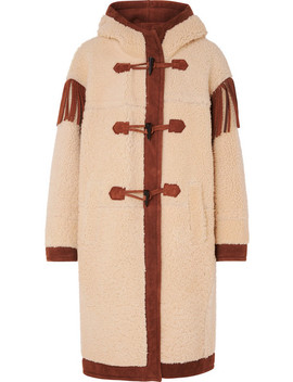 Fringed Suede Trimmed Shearling Coat by Philosophy Di Lorenzo Serafini
