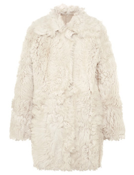 Everly Reversible Shearling Coat by Tory Burch