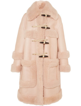 Leather And Shearling Duffle Coat by Bottega Veneta