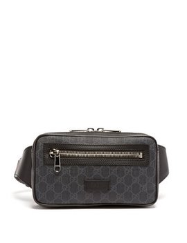 Gg Supreme Leather Belt Bag by Matches Fashion