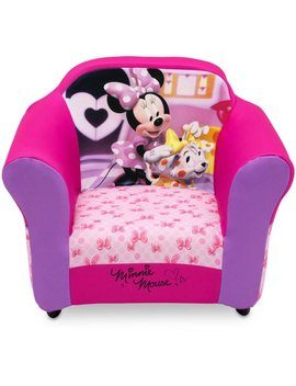 Disney Minnie Mouse Kids Upholstered Chair With Sculpted Plastic Frame By Delta Children by Disney