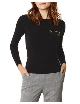 Zip Detail Sweater by Karen Millen