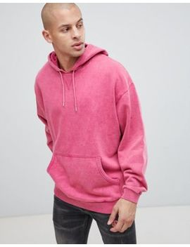Asos Design Overszied Hoodie With Acid Wash by Asos Design