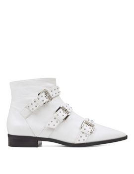 Seraphim Pointy Toe Booties   White Leather by Nine West