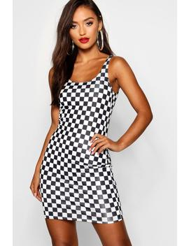 Petite Check Mini Dress by Boohoo