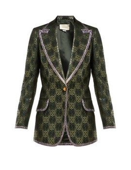 Gg Jacquard Single Breasted Blazer by Matches Fashion