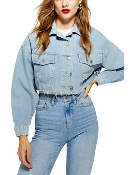 Crop Denim Jacket by Topshop