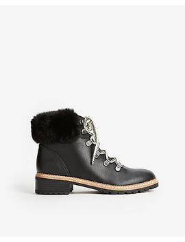 Faux Fur Hiker Boots by Express
