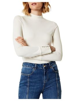Button Cuff Ponte Top by Karen Millen