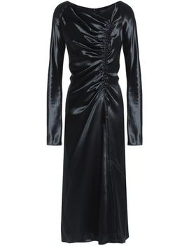 Gathered Satin Midi Dress by Marc Jacobs