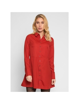 Polish Polka Dot Shirt Dress by Wet Seal