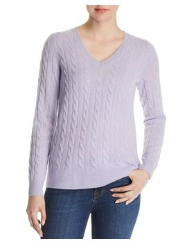 Cable Knit Cashmere Sweater   100 Percents Exclusive by C By Bloomingdale's