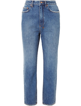 Chlo Wasted Cropped High Rise Straight Leg Jeans by Ksubi