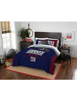 """New York Giants   3 Piece Full / Queen Size Printed Comforter & Shams   Entire Set Includes: 1 Full / Queen Comforter (86"""" X 86"""") & 2 Pillow Shams   Nfl Football Bedding Bedroom Accessories by Northwest Enterprises"""