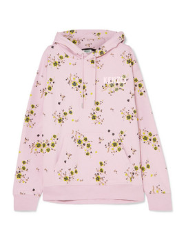 Oversized Floral Print Cotton Jersey Hoodie by Kenzo