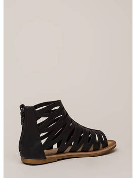 Woman Warrior Cut Out Gladiator Sandals by Go Jane