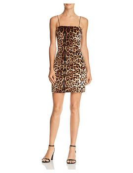 Leopard Print Velvet Dress   100 Percents Exclusive by Aqua