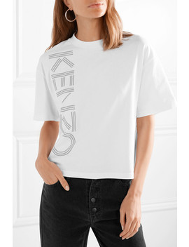 Cropped Cotton Jersey T Shirt by Kenzo