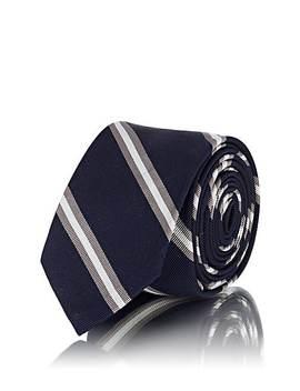 Striped Silk Cotton Faille Necktie by Thom Browne