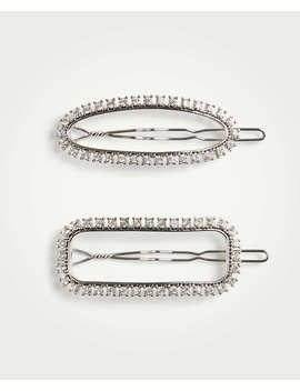 Crystal Barrette Set by Ann Taylor
