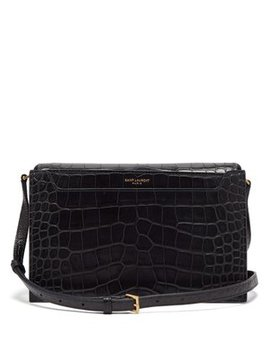 Catherine Crocodile Effect Leather Cross Body Bag by Matches Fashion