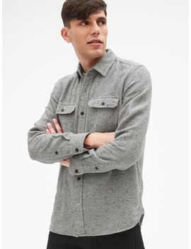 Cozy Textured Overshirt by Gap