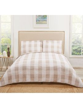 Buffalo Plaid Khaki Quilt Set by Pier1 Imports