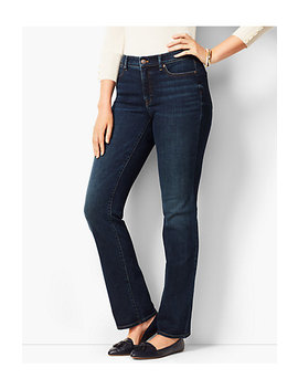 High Rise Barely Boot Jeans   Curvy Fit/Pioneer Wash by Talbots