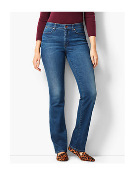High Rise Barely Boot Jeans   Curvy Fit/Nestor Wash by Talbots