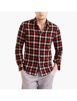 Rugged Elbow Patch Shirt In Tri Color Gingham by J.Crew