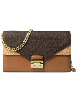 Medium Signature Envelope Wallet On A Chain by Michael Michael Kors