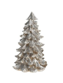The Holiday Aisle Desmond Small Resin Silver & Gold Tree Figurine by The Holiday Aisle