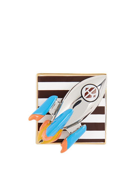 Rocket Ship Bag And Scarf Charm And Pin by Henri Bendel