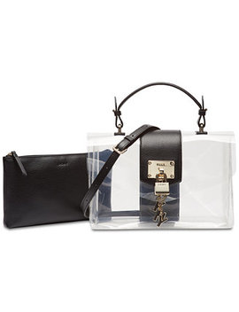Elissa Flap Clear Shoulder Bag, Created For Macy's by Dkny