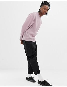 Asos Design Oversized Sweatshirt In Dusty Purple by Asos Design