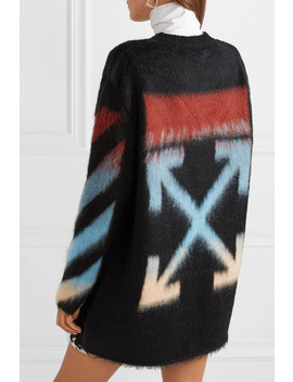 Striped Intarsia Knit Sweater by Off White