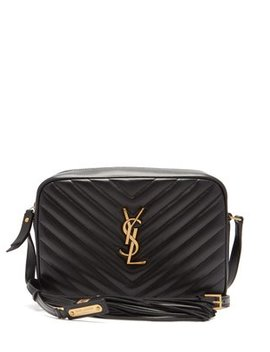 Lou Quilted Leather Cross Body Bag by Matches Fashion