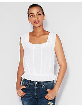Ruffle Cotton Top by Express