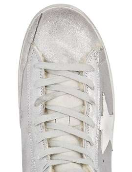 Women's Francy Metallic Leather & Shearling Sneakers by Golden Goose