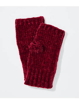 Chenille Fingerless Gloves by Loft