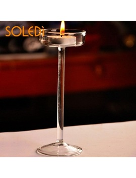 Elegant Romantic Creative Goblet Designed Glass Candle Holder Supplies Christmas Decorations For Home by Soledi
