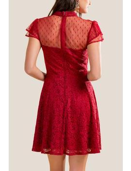 Joelle Lace Sweetheart Dress by Francesca's
