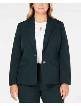 Plus Size Two Button Jacket by Kasper