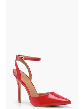 Pointed Patent Sling Back Heels by Boohoo