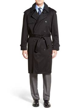 Barrington Classic Fit Cotton Blend Trench Coat by Hart Schaffner Marx