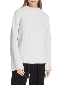 Button Cuff Funnel Neck Sweater by Vince