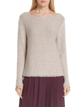 Fringe Hem Sweater by Eileen Fisher