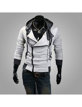 2018 Casual Cardigan Men Hoodie Sweatshirt Long Sleeved Slim Fit Male Zipper Hoodies Assassins Creed Jacket Plus Size M 6 Xl by Liva Girl