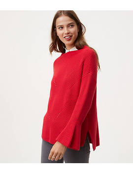Mockneck Bell Sleeve Sweater by Loft