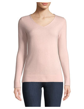 Cashmere Modern V Neck Sweater by Neiman Marcus Cashmere Collection